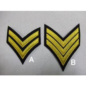 US.ポリス、階級章(ブラック)(新品、ワッペン)