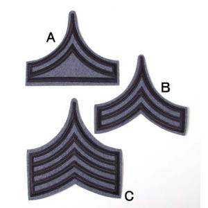 US.下士官、大階級章(ブルーグレー)(新品、ミリタリーワッペン)