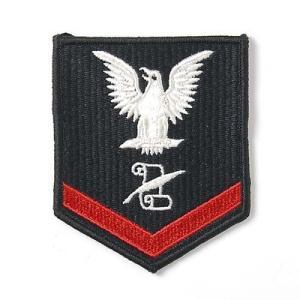 US.NAVY.ブラック階級章(新品、ミリタリーワッペン)