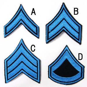US.ポリス、階級章(ブルー)(新品、ワッペン)