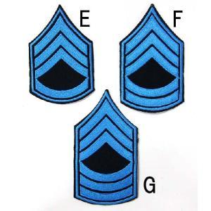 US.ポリス階級章(ブルー)(新品、ワッペン)