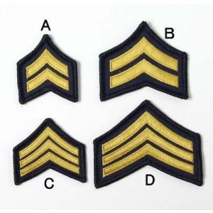 US.NAVY.階級章(小)(新品、ミリタリーワッペン)