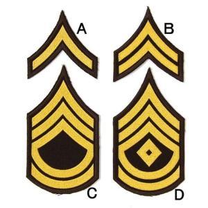 US.ポリス階級章(ブラウン)(新品、ワッペン)