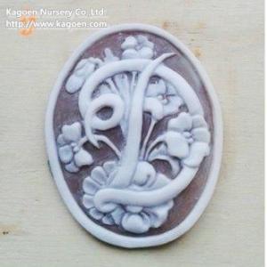 オーバル エデンの園&イニシャル    アクセサリーレディースアクセサリーネックレス、ペンダント  (1616)|la-classe-online