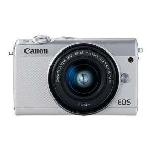 キャノン Canon 新品 EOS M100 EF-M15-45 IS STM レンズキット ホワイ...
