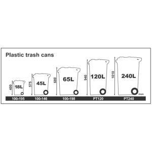 DULTON ダルトン ゴミ箱45L(キャスター付き) プラスチックトラッシュカン 【ゴミ箱・ダストボックス・分別】P39|la-fiore|03
