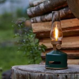 MoriMori 充電式 LED ランタンスピーカー ワイヤレス Bluetooth 無段階調節LEDライト スピーカー(ダークグリーン)|la-grande-roue