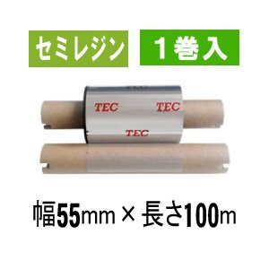 [セミレジンタイプ] テック純正インクリボン BR-1005A11N  1箱(1巻入り)|label-estore