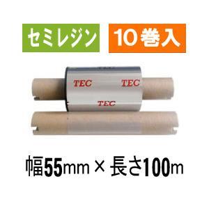 [セミレジンタイプ] テック純正インクリボン BR-1005A11N  1箱(10巻入り)|label-estore