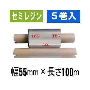 [セミレジンタイプ] テック純正インクリボン BR-1005A11N  1箱(5巻入り)|label-estore
