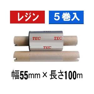 [レジンタイプ] テック純正インクリボン BR-1005A21 1箱(5巻入り)|label-estore