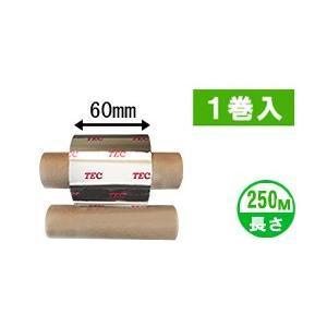 [セミレジンタイプ] テック純正インクリボン BR-2506A11N 1箱(1巻入り) label-estore
