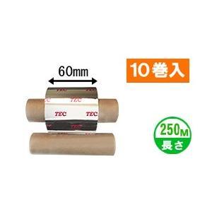 [セミレジンタイプ] テック純正インクリボン BR-2506A11N 1箱(10巻入り) label-estore