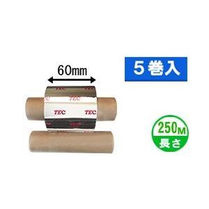 [セミレジンタイプ] テック純正インクリボン BR-2506A11N 1箱(5巻入り) label-estore