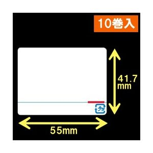 東芝テック(株) 計量用サーマルラベル(55mm×41.7mm) 1巻当り5000枚 1箱10巻入り label-estore