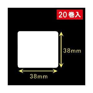 東芝テック(株) 白無地サーマルラベル(38mm×38mm)1巻当り2700枚 1箱20巻入り|label-estore