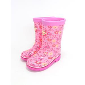 ba0219d3bee6d 安い ムーンスター 子供靴 ジュニア キッズ オシュコシュ レインブーツ 長靴 花柄 ロンプC59OSK ピンク