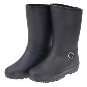 ミツウマ レディース 防寒長靴 レインブーツ ハーフ丈 滑りにくい 寒冷地仕様 ピュセル4020 ブラック|laber