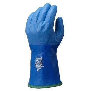 【1双入販売 】ショーワ 作業用防寒手袋 軽量 保温性抜群 裏起毛タイプ 防寒テムレス282 ブルー|laber
