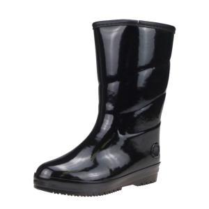 弘進ゴム レディース 暖かい 滑りにくい スパイク付き 防寒長靴 冬 寒冷地仕様 マリアンM6214 ブラック|laber
