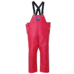 メンズ 紳士 水産用合羽 サロペット レインパンツ ズボン 漁師 マリンメイト胸付きズボン マゼンタ laber