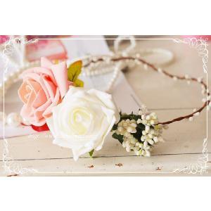 シルクフラワー花冠(アメリー)/ウェディング/ブライダル/ヘアアクセサリー/結婚式/花嫁 labolero 06