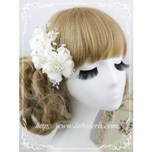 愛らしいお花のウェディングヘッドドレス(キャロル)/ウェディング/ブライダル/ヘアアクセサリー/結婚式/花嫁|labolero|02