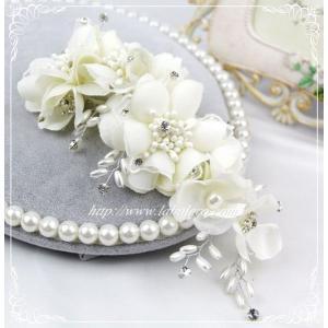 愛らしいお花のウェディングヘッドドレス(キャロル)/ウェディング/ブライダル/ヘアアクセサリー/結婚式/花嫁|labolero|03