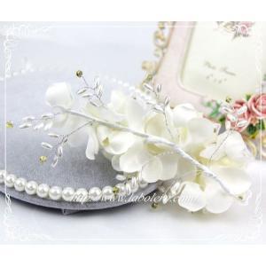 愛らしいお花のウェディングヘッドドレス(キャロル)/ウェディング/ブライダル/ヘアアクセサリー/結婚式/花嫁|labolero|04