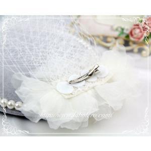 チュールとビジューのウェディングヘッドドレス(ルナ)/ウェディング/ブライダル/ヘアアクセサリー/結婚式/花嫁/リボンカチューシャ|labolero|05
