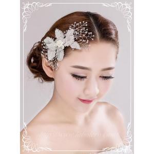 キラキラ輝くビジューのヘッドドレス (リリアーナ)/ウエディング/ブライダル/ヘアアクセサリー/花嫁/結婚式/花嫁|labolero|02