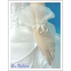 小花がキラリショートグローブ/ウェディング用品/花嫁ブライダル小物|labolero