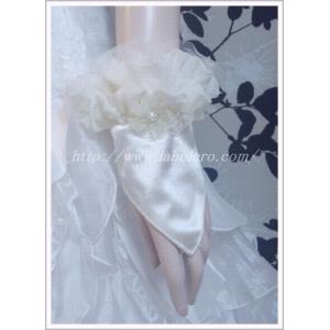 フリルが可愛いショートフィンガーレスグローブ/ウェディング用品/花嫁ブライダル小物|labolero