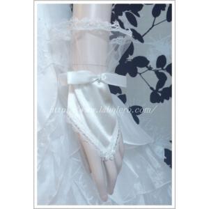 リボンと小花のショートフィンガーレストグローブ/ウェディング用品/花嫁ブライダル小物|labolero