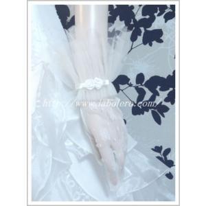 花柄レースのショートグローブ/ウェディング用品/花嫁ブライダル小物|labolero