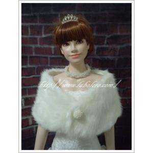 ブライダルファーケープ(シャルロット)/S,M,L,XL,/花嫁ウェディングドレス用|labolero