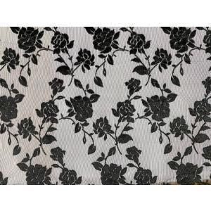 【花柄(バラ)】ベロアレース 生地 No.117632Yシースルータイプ 100cm巾×50cm単位...