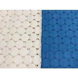 綿混レース 【水玉・サークル柄】 150cm巾 50cm単位販売  2色 キナリ・ブルー|lace