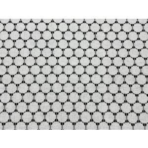 キラキラ輝くラメコード入り綿混レース コットン 水玉柄 日本製 150cm巾 50cm単位販売|lace