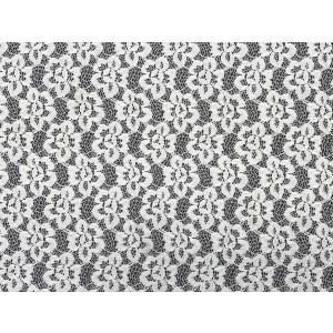 綿混レース コットン 花柄 日本製 110cm巾 50cm単位販売 オーソドックスな花柄|lace