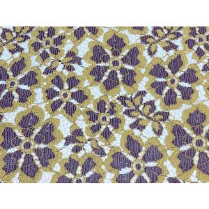 【花柄】3者混レース 生地 No.82653CD レース 100cm巾×50cm単位販売 マルチカラー/オフホワイト|lace