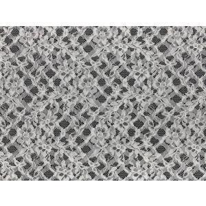★NEW★【花柄+光沢バイアスチェック柄レース】 100cm巾×50cm単位販売 2色 No.92512CD|lace