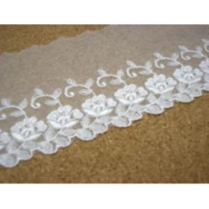 ナイロンチュールレース(8cm巾・オフ) laceya