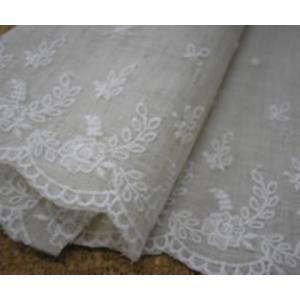 綿麻細巾レース(16.5cm巾・キナリ)|laceya