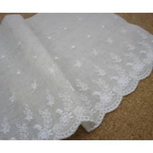 綿麻細巾レース(16.5cm巾・キナリ)|laceya|02
