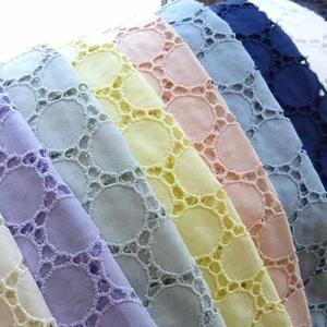 綿サークル柄カットワークレース生地 布 北欧風 ハワイアン トップス ワンピース カーテン スカート 衣装 刺繍無地