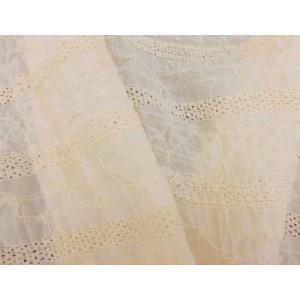 綿収縮レース生地 コットン  おしゃれ布 キャラクター 北欧風 ハワイアン衣装とも相性良 ストール ブラウス|laceya