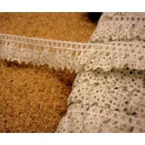 フリル麻レーヨントーションレース(1.4cm巾・キナリ) laceya