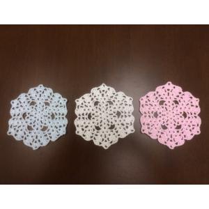 ミニドイリー(綿太糸・3色) laceya