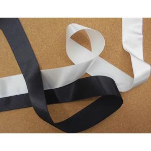 サテンリボン(2.5cm巾) 手芸 ヘアゴム バッグ カチューシャ 黒 オフ 激安 安い laceya